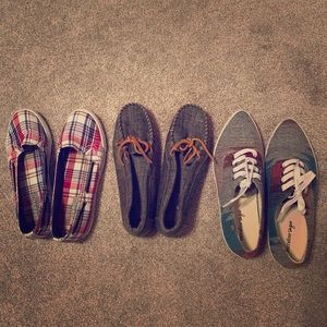 Three pair of shoes, size 7, great condition!